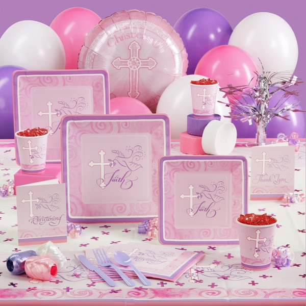 Decorating ideas for christening party table decorations