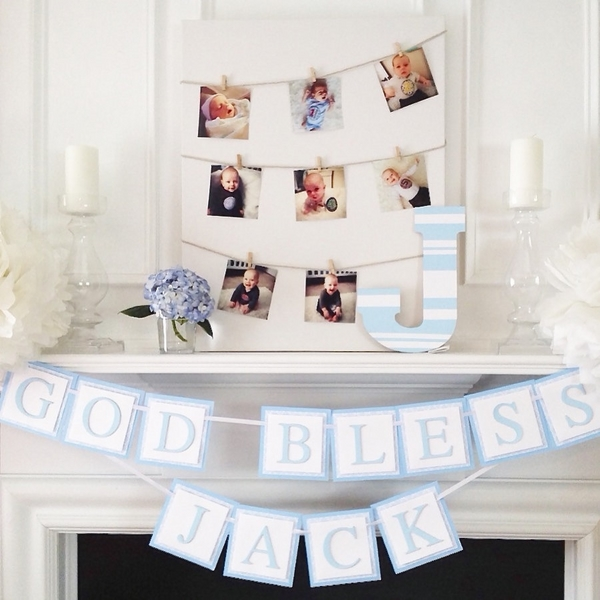 christening home party decorations paper banner photo banner