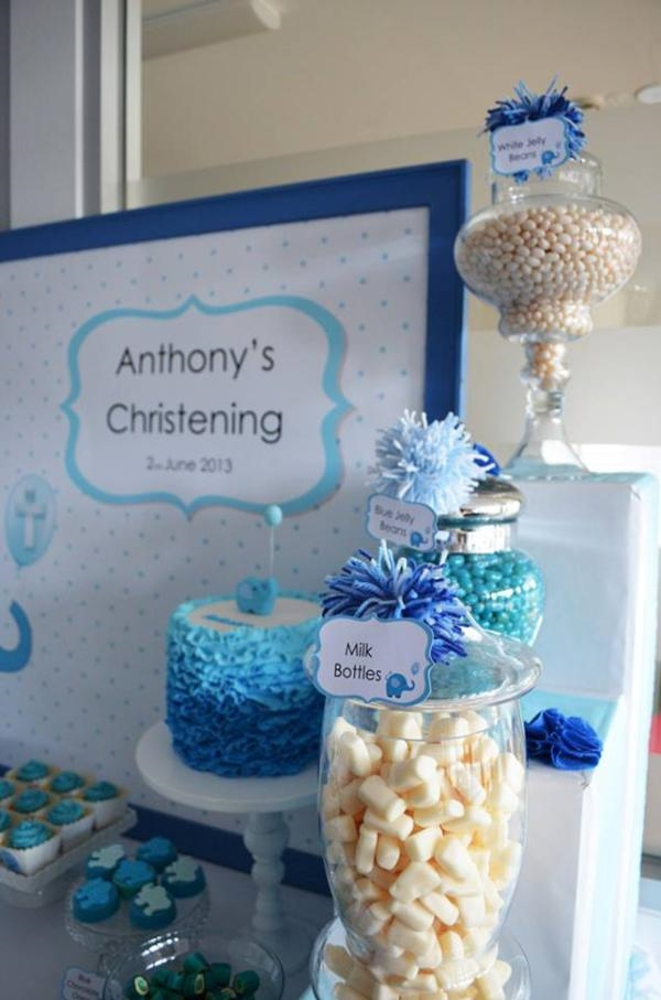 christening decorations invitations buffet table decor