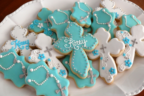 christening decorations party favor ideas cookies