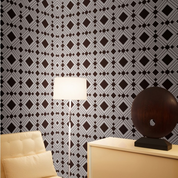modern home interior-temporary-wallpaper-geometric pattern
