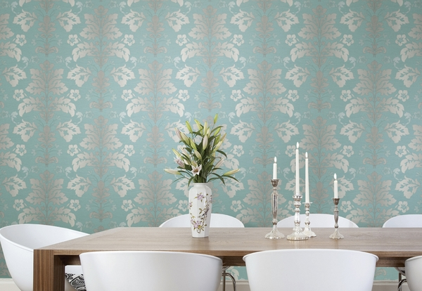 how to apply-temporary-wallpaper-dining room decorating ideas