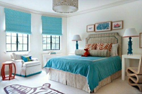 Bedroom decorating ideas blue decoration