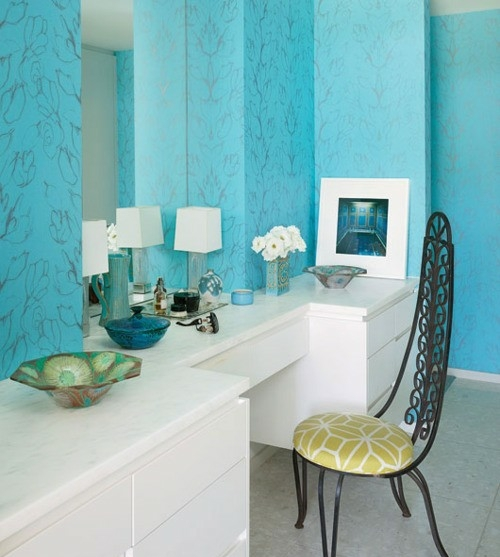 Dressing table bedroom wall color