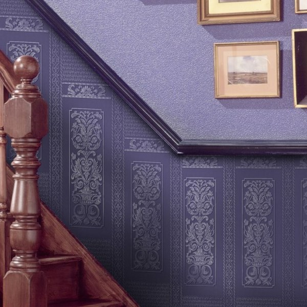 painting-over-wallpaper-interior staircase house entry decor