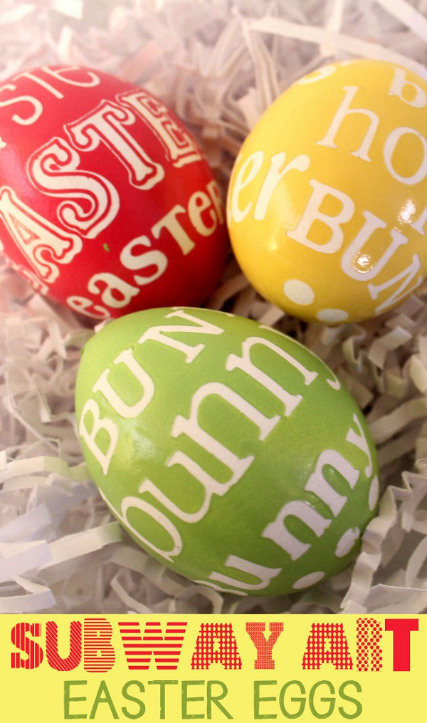 Subway art Easter eggs modern easter decoration ideas