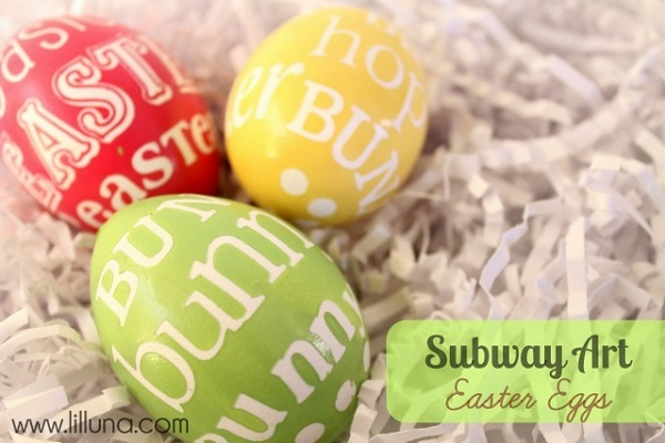 how to make subway art painted eggs Easter decorating