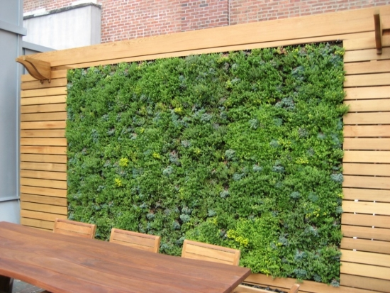 vertical balcony garden terrace protective windscreen
