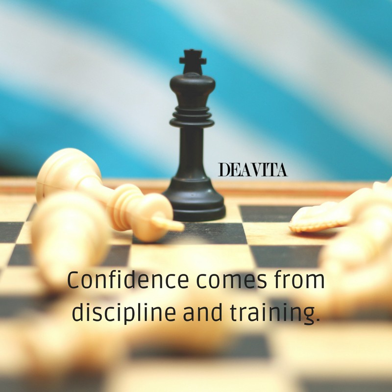 Confidence discipline training short deep quotes