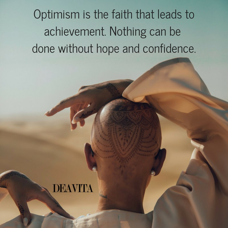 Optimism achievement faith sayings and quotes