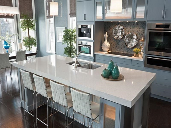 quartz countertop contemporary kitchen design kitchen island with seating
