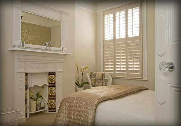 traditional-plantation-shutters-cost white bedroom design