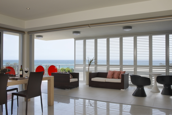 contemporary apartment plantation shutters for slifing doors