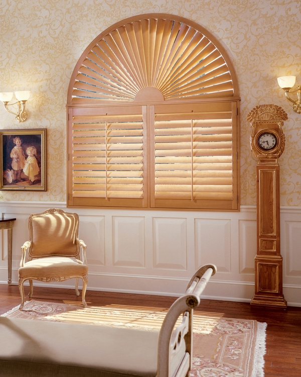 faux wood plantation shutters classic style interior
