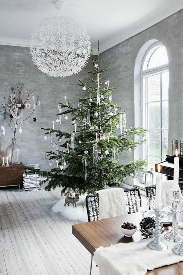 christmas decor ideas scandinavian style neutral color decoration