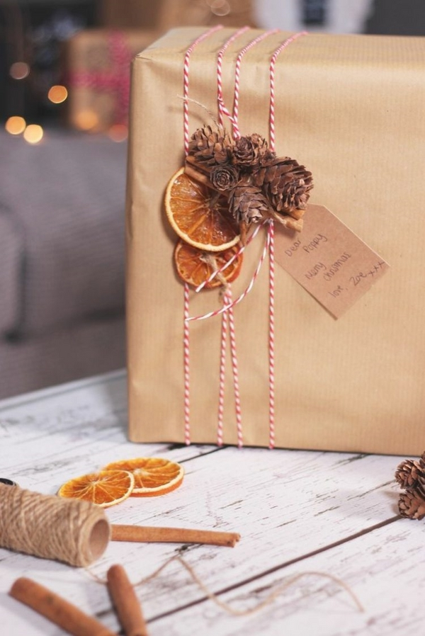 christmas gift ideas christmas gift wrapping natural materials brown paper