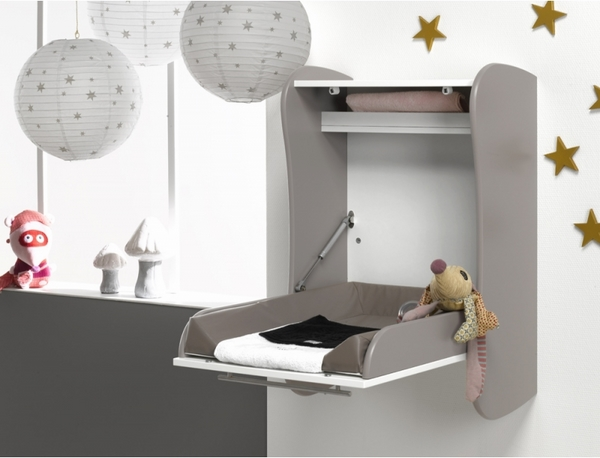wall mounted baby changing station design ideas vertical mounting