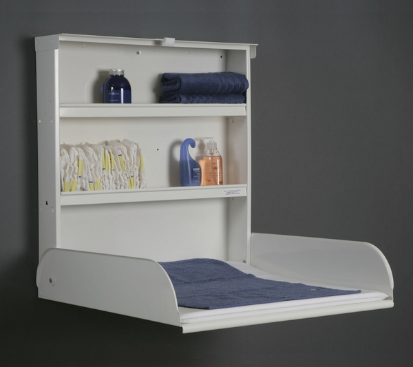 vertical wall mounted baby changing station design ideas