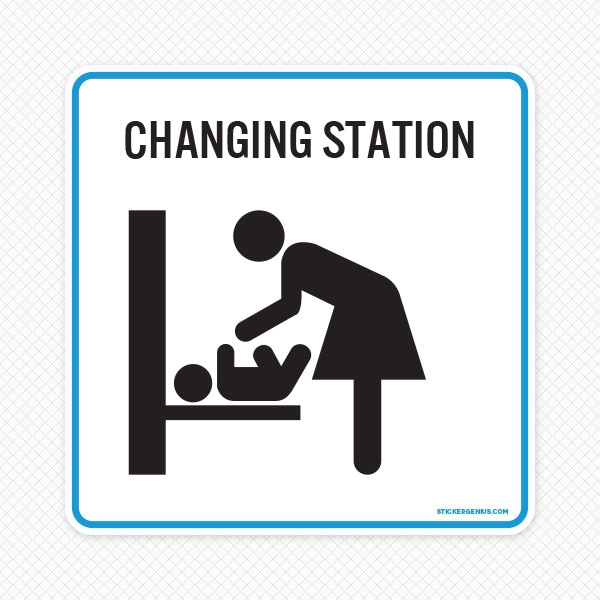 baby changing station sign for public restrooms baby changing tables