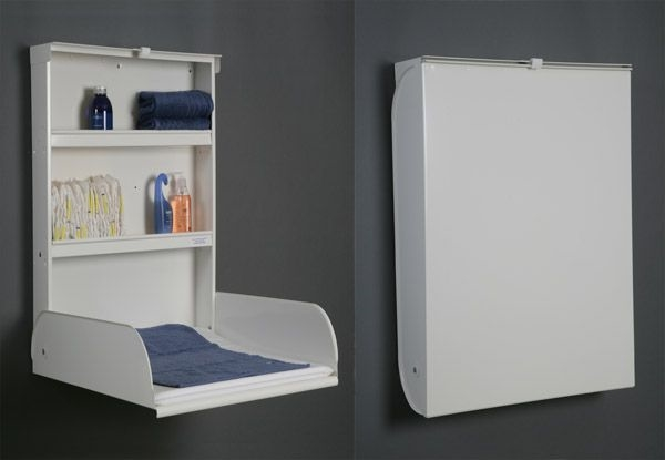 creative wall mounted baby changing station designs