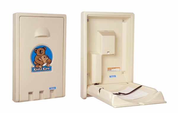 vertical baby changing station for public restrooms