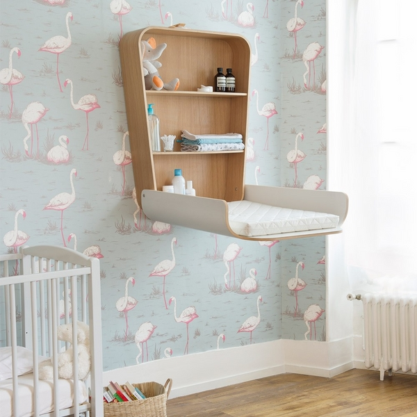 modern wall mounted baby changing station