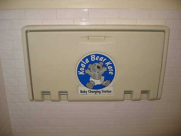 horizontal wall mounted baby changing station design ideas