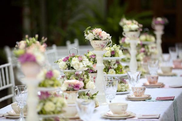 elegant afternoon garden tea party table