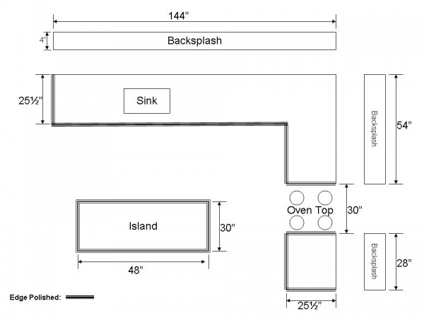 How to measure a kitchen countertop make a drawing