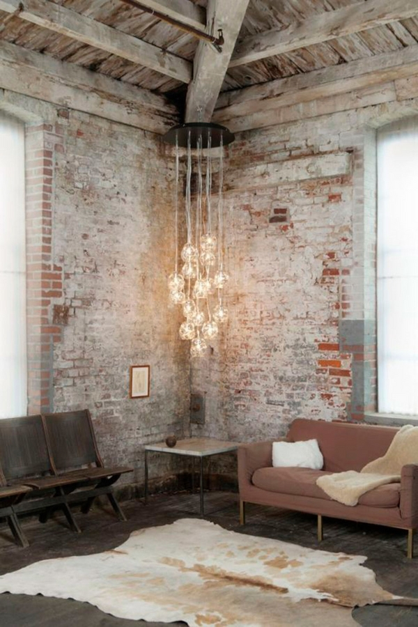 how-to-whitewash-brick-loft wohnungsdesign ideen industriedesign