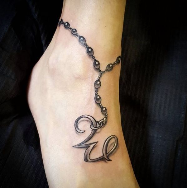 best ankle bracelet tattoos ideas
