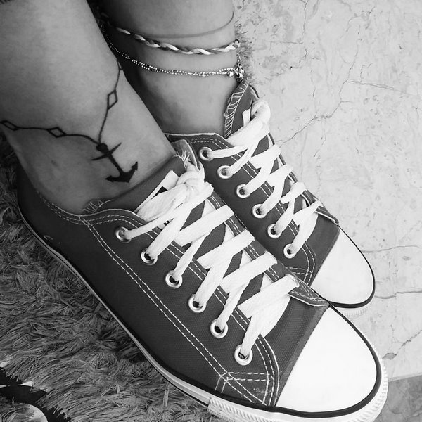 anchor bracelet tattoo on ankle design for women