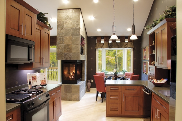 Contemporary fireplace surround ideas natural stone tile fireplace