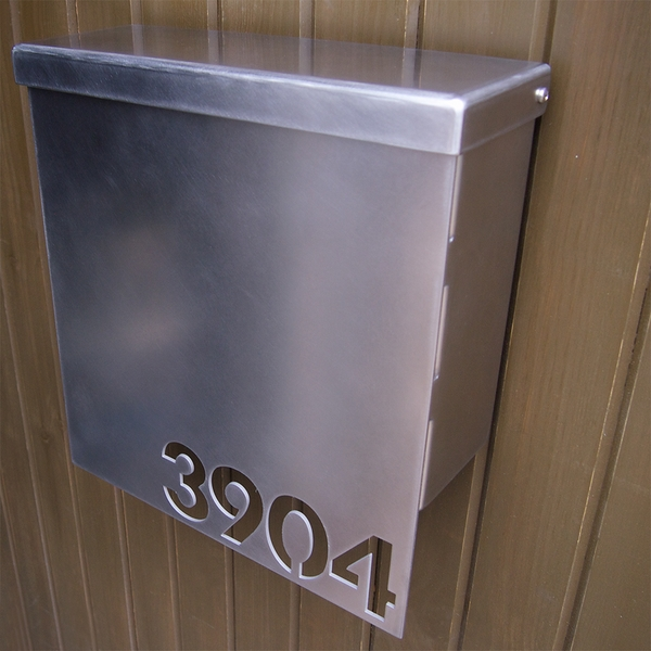 modern wall mailboxes stainless steel