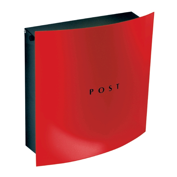 Red front wall mount mailbox modern design